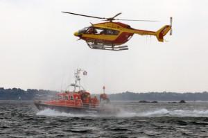 Exercice d'hélitreuillage avec Dragon 50 hélicoptère EC155 de la Sécurité Civile.